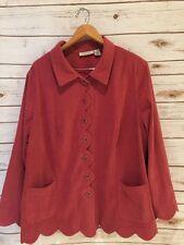 Plus Size Jacket 24W by Roaman's Pink Lightweight❤️❤️