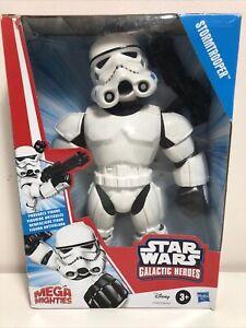 """STAR WARS Mega Mighties Galactic Heroes Stormtrooper 10"""" Figure Hasbro NEW"""