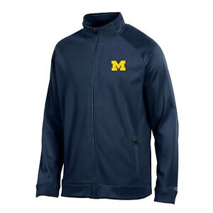 "Michigan Wolverines NCAA Champion Men's ""Achievement"" Navy Perf. Full Zip Jacket"