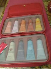 Crabtree & Evelyn Hand Therapy Gift Set NEW with red travel make up case