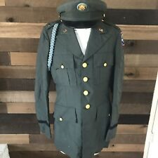 Vintage US Army Green Coat 36 Xl With Hat