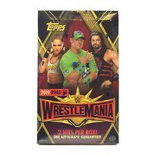 2019 TOPPS WWE ROAD TO WRESTLEMAINIA WRESTLING HOBBY BOX FACTORY SEALED NEW