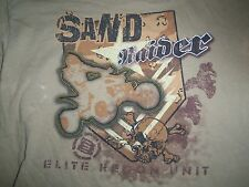 Sand Raider Elite Recon Unit ATV Motorsport Brown Graphic Print T Shirt Youth XL