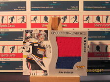 2005-06 ITG Heroes and Prospects Jerseys #GUJ103 Mike Brodeur 2 Color Red Blue