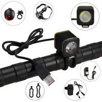 5000LM 3-mode XML T6  Mini USB LED luce della bicicletta testa della torcia Set