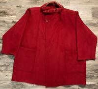 Vintage Jimmy Hourihan Dublin Womens Flannel Wool Red Peacoat Jacket Size Small