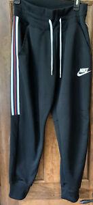 Women's Nike Track Pants Sz M  Black CJ4923-010 Preowned