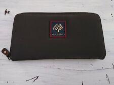 Vintage Mulberry Organiser Travel Case Wallet Purse Nylon Document Black Grey