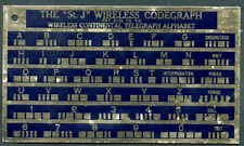 Wireless Codegraph Morse Code Brass Plate dated August 13, 1912 - 4 months after