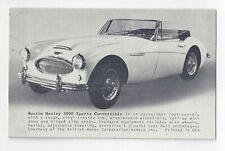 Austin Healey 3000 Exhibit Card Circa 1960's