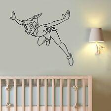 Peter Pan Wall Sticker Vinyl Decal Disney Movie Cartoon Art Nursery Decor pitp4