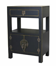 Nightstand Chinese Wedding Cabinet Black Bedside Table Night Console