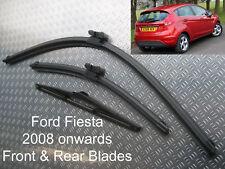 Front Rear Wiper Blades Ford Fiesta 2008 2009 2010 2011 2012 2013 2014 2015 2016