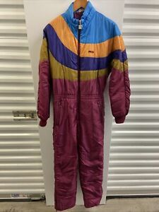 Vintage Ellesse Ski Suit Sz 10W Made In Italy Coveralls 80s 90s