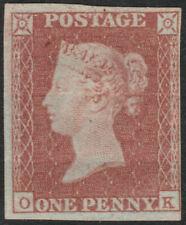 1841 SG8 1d RED BROWN PLATE 88 UNUSED HINGED 4 MARGINS BEND (OK)