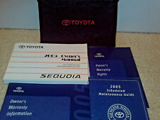 2005 TOYOTA SEQUOIA Owner's owners Manual ! Case plus extras