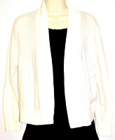 Ann Taylor LOFT Women's White Open Lightweight Cotton Cardigan Size Large