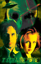"""X-Files Mulder and Scully """"I still Believe"""" 11 x 17 High Quality Poster"""