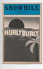 Hurly Burly Promenade Theatre Showbill 1984 Hurt Keitel Walken Weaver Nixon FN