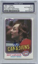 GUY LAFLEUR SIGNED 1980-81 TOPPS CARD #19 PSA/DNA AUTO 83738268