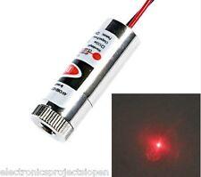 5V 650nm RED LINE/ Dot Laser Module 5mW Focus Adjustable Industrial Metal Grade.
