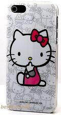 for iphone 5 5s cute hello kitty white with bow  hard back case cover skin