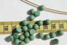 CzechMates Cabochon 7mm Opaque Turquoise Picasso Crafts Jewelry  25pcs/313