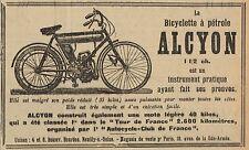 Y8248 Biciylette a pétrole ALCYON - Pubblicità d'epoca - 1907 Old advertising