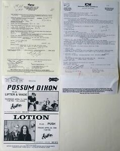 Lotion Original Concert Contract w/ Idaho  - 1996 Pittsburgh, PA