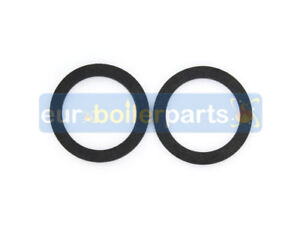 """Pair Central Heating Pump Gate Valve Washers Rubber Gasket Seals 1 3/4"""""""