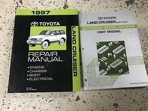 1997 Toyota Land Cruiser Service Shop Workshop Repair Manual Set W EWD