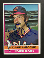 Dave LaRoche Indians Signed 1976 Topps Baseball card #21 Auto Autograph