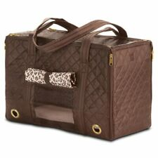 Sherpa Park Tote Pet Carrier Brown Medium Pets Up To 12 Lbs Soft Interior