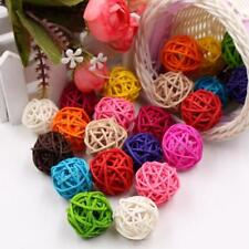 Artificial Straw Ball For Home Ornament Birthday Party Wedding Decoration 10 Pcs