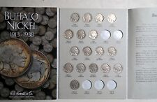 1913-1938  BUFFALO/INDIAN  HEAD  NICKELS  FOLDER, Partially-Filled with 39 COINS