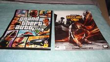 Video Game Poster lot of 2 : GTA5 & Double Sided Infamous Second Son / The Order