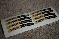 Triumph Racing Sport Motorbike Bike Car Tune Rim Wheel Decal Sticker Gold Black