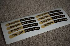 Triumph Racing Sport Motorbike Bike Car Tune Rim Wheel Decal Sticker Gold Black
