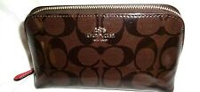 Coach Signature Patent Patent Cosmetic Makeup Bag