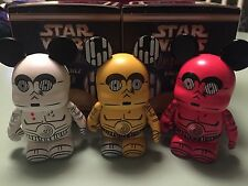 STAR WARS Vinylmation C3PO Eachez Set Of All 3 Variants Limited Edition