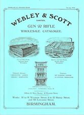 WEBLEY SHOTGUNS & RIFLES BOOK WEBLEY & SCOTT LIMITED 1914 CATALOGUE paperback