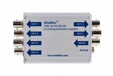1x6 3G-HD-SD re-clocking distribution amplifier