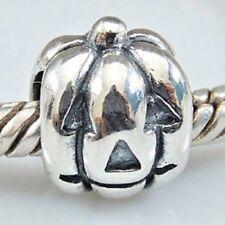 Halloween Pumpkin Charm Bead 925 Sterling Silver
