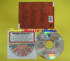 CD SOUND EFFECTS 6 - EFFETTI SONORI VOL 6 compilation 1997 (C3) no mc lp vhs dvd