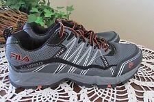 FILA Sz 9 Mens Gray/Black/Orange all terrainTrail Running Shoes