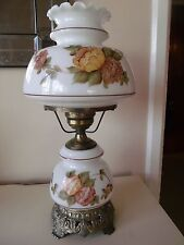 Vintage Hand Painted GWTW Gone With The Wind White Hurricane Lamp