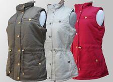 Ladies Gilet Body Warmer Vest Faux Fur Reversible Green White Red S M L XL BNWT
