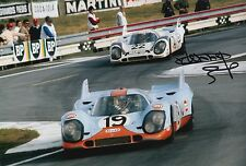 Gijs van Lennep Hand Signed Porsche 12x8 Photo 10.