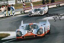 Gijs van Lennep Hand Signed Porsche 12x8 Photo 10.