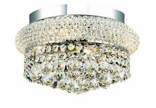 1800 Primo Collection Flush Mount D12in H6in Lt:4 Chrome Finish (Royal Cut Cr...